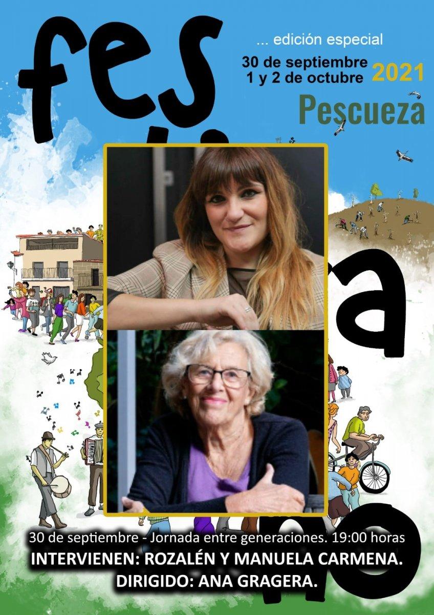 Manuela Carmena y la artista Rozalén estarán en el próximo Festivalino de Pescueza