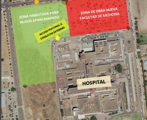 Las obras de la primera fase de la nueva Facultad de Medicina de Badajoz comenzarán el próximo jueves