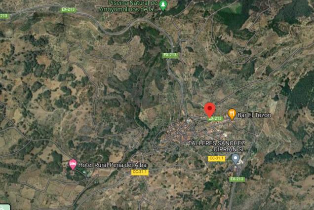 Herido un joven motorista de 26 años en un accidente ocurrido en Arroyomolinos de la Vera