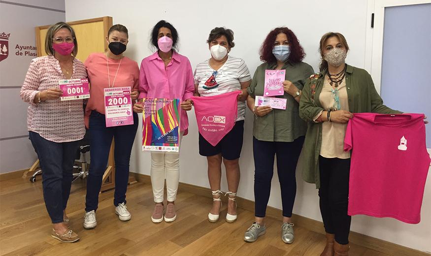 """Todo listo en Plasencia para vivir el """"Mes Rosa"""" y ayudar en la lucha contra el cáncer"""