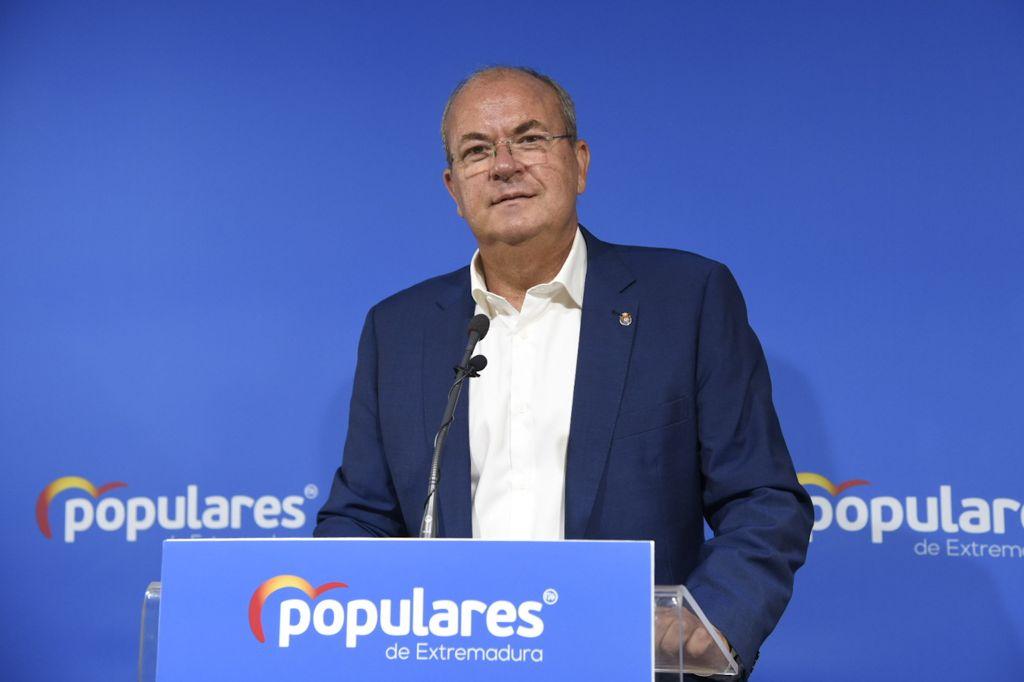 Monago exige a Vara un régimen fiscal especial o la eliminación de impuestos propios como en Madrid