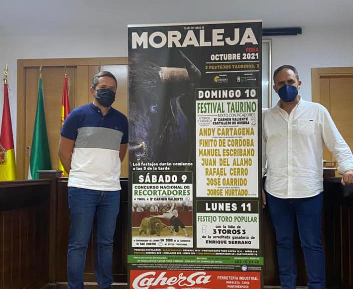 Moraleja contará con tres festejos taurinos los días 9, 10 y 11 de octubre