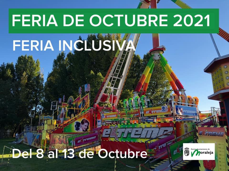 La Feria de Octubre de Moraleja tendrá atracciones sin música para las personas con sensibilidad auditiva