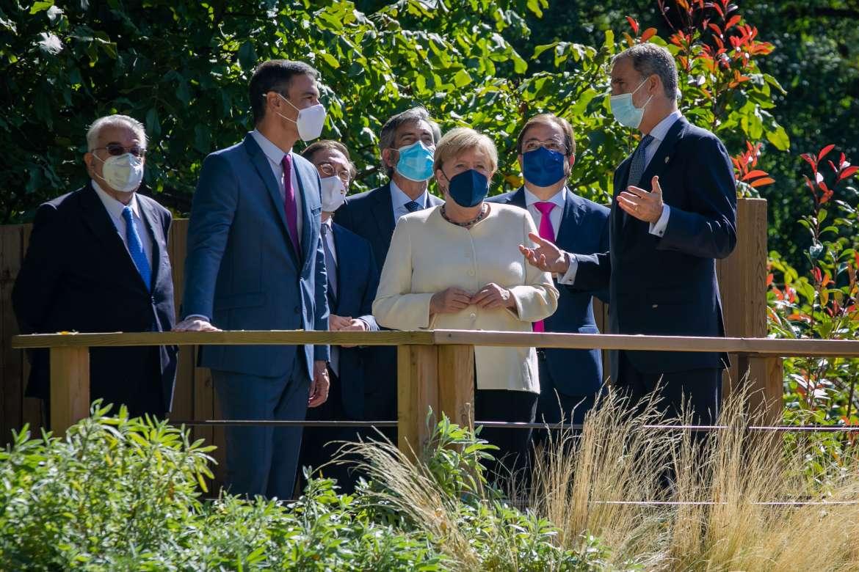 El Monasterio de Yuste se rinde ante la canciller alemana Angela Merkel